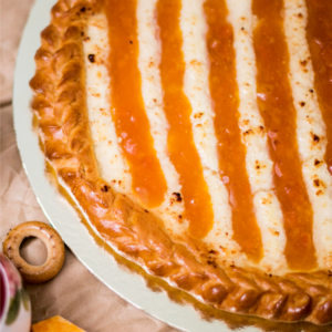 Пирог с абриеосом и творогом пекарня бейкер стрит