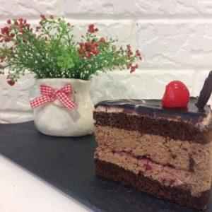 торт Вишня в кофейном муссе пекарня бейкер стрит